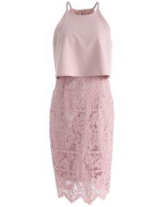 Robe en dentelle Faith in Glamour en rose