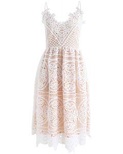 Moonlight Night Cross Back Crochet Cami Dress