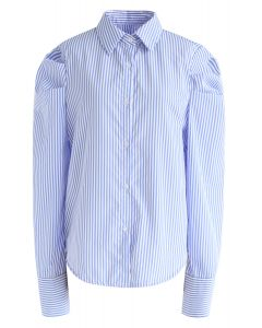 Chemise Pioneer Fadish à rayures bleues