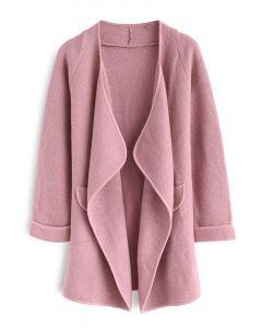 Tout Est Tricoté Manteau en Rose