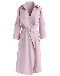 City Of Dreams - Trench-coat en mousseline à manches longues - Rose
