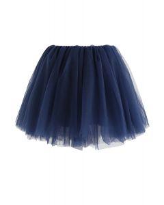 Jupe Amore en tulle bleu marine pour enfants