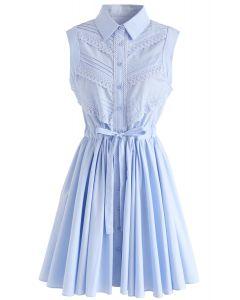 Robe Pure Beauty A-Line sans manches en bleu