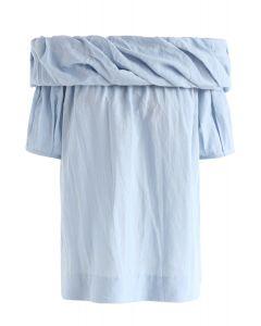 Sens de la gentillesse Top à épaules dénudées en bleu