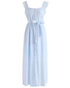 Trouvez l'amour en robe camisole brodée en bleu