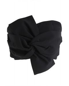 Top Noeud Bustier en Noir