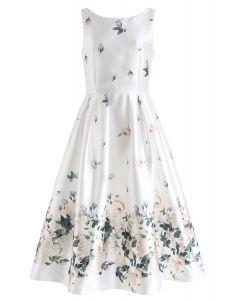 Fallen Rosa Robe de bal imprimée en blanc