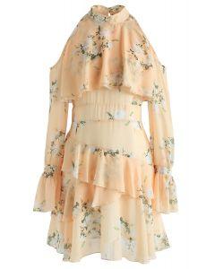 Gardenia Impress Robe en mousseline d'épaule froide