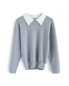 Haut en tricot Wind Sunday bleu
