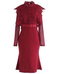 Pour un meilleur jour Robe au crochet en rouge