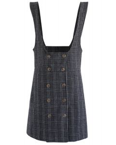 Lift Me Up Check Pinafore Dress