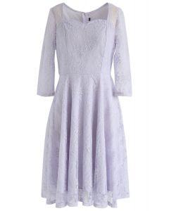Robe en dentelle à encolure carrée All for You en lilas