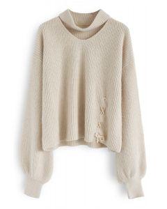 De moi à toi Pull tricoté à la crème