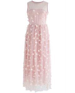 Rêves Fluorescents Robe en maille sans manche couleur rose