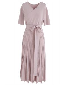 Robe en maille charmante sans effort en rose