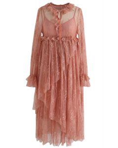 Robe Dolly Full Lace Dolly en corail