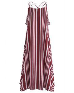 Robe camisole à dos croisé