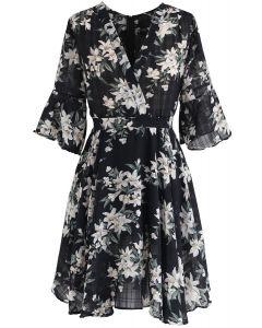 Mieux que cette robe en mousseline à fleurs en noir