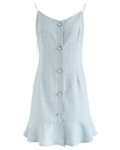 Ça va être tweed Cami Dress en bleu
