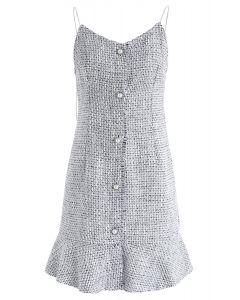Elle va robe camisole en tweed gris