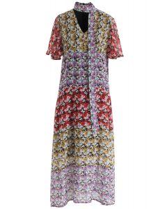 Meet Me In Flower Land - Robe en mousseline