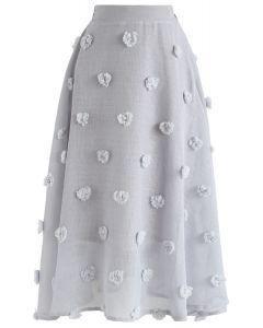 Jupe à fleurs en coton transparent Candy