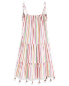 Rainbow Candies Stripes Maxi Dress pour les enfants