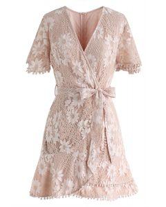 Daisy Land - Mini robe cache-cœur en dentelle
