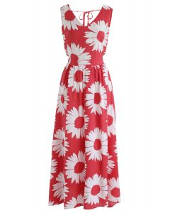 Tournesol Glow Maxi Dress Back in Rouge