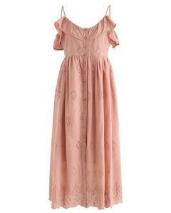 Robe Cami brodée Lovely Day en corail