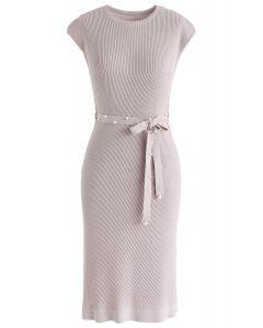 Regarder la robe en maille Sunset en lilas