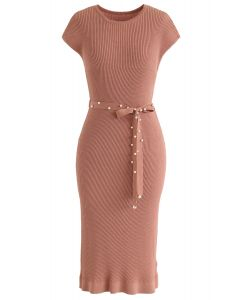 Regarder la robe en maille Sunset en corail