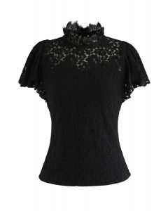 Fall in Love - Top en dentelle noir