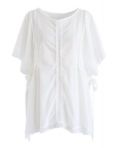 Dolly Eyelet Dolly Top en blanc