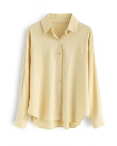 Shell Boutons Down Shirt en jaune