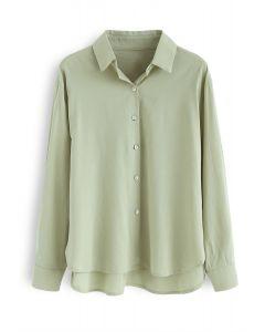 Shell Boutons Down Shirt en vert