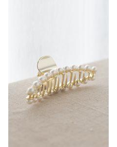 Grande et petite griffe à cheveux bordée de perles
