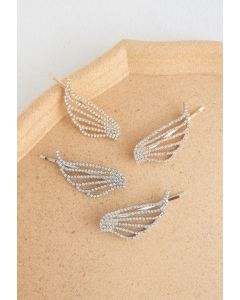 Lot de 2 épingles à cheveux Crystal Wing