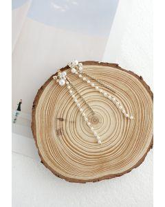 Boucles d'Oreilles Perles Chaîne Cristal