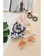 2 Packs Retro Floral Silk Face Coverings