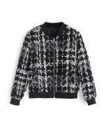 Everyday Fitted Chunky Textured Jacket in Black